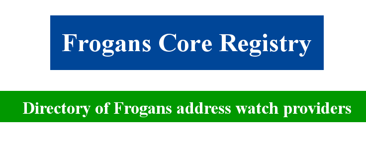 Directory of Frogans address watch providers