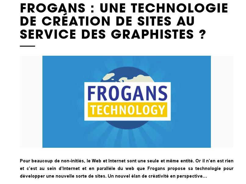 Frogans : une technologie de création de sites au service des graphistes ?