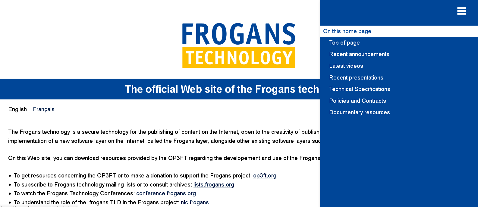 New frogans.org Web site