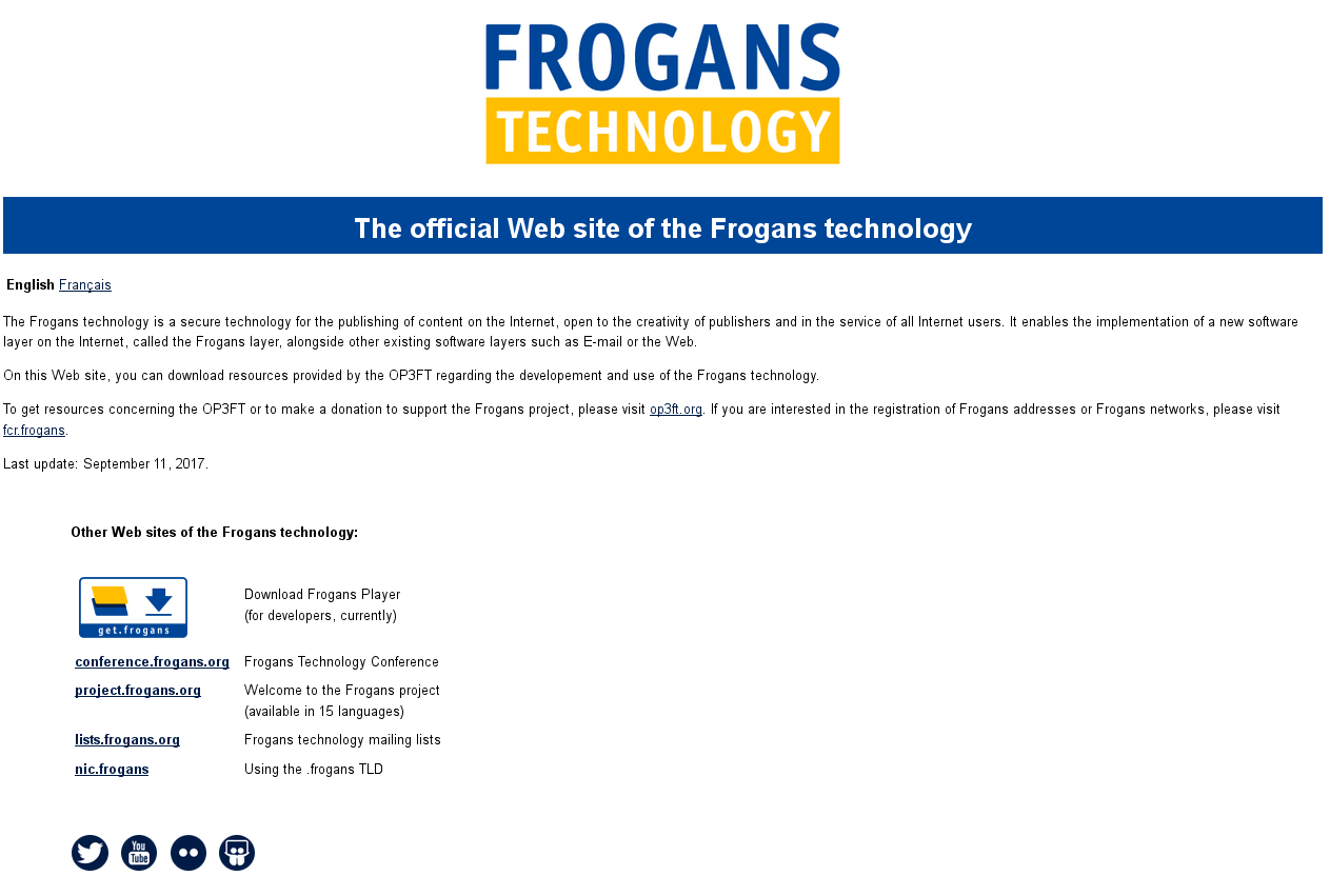 Official Web site of the Frogans technology