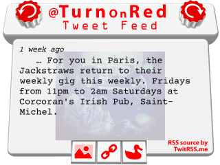 Twitter feed of @TurnOnRed published on a Frogans site